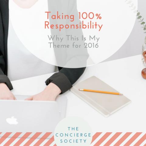 Taking 100% Responsibility