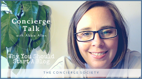 Concierge Talk – Starting A Blog